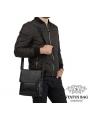 Мужская качественная кожаная сумка через плечо Tiding Bag A25-1278A фото №3