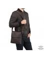 Сумка через плечо мужская кожаная коричневая Tiding Bag A25-1278C фото №9