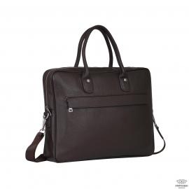 Мужская кожаная коричневая сумка классика Tiding Bag A25-17611C