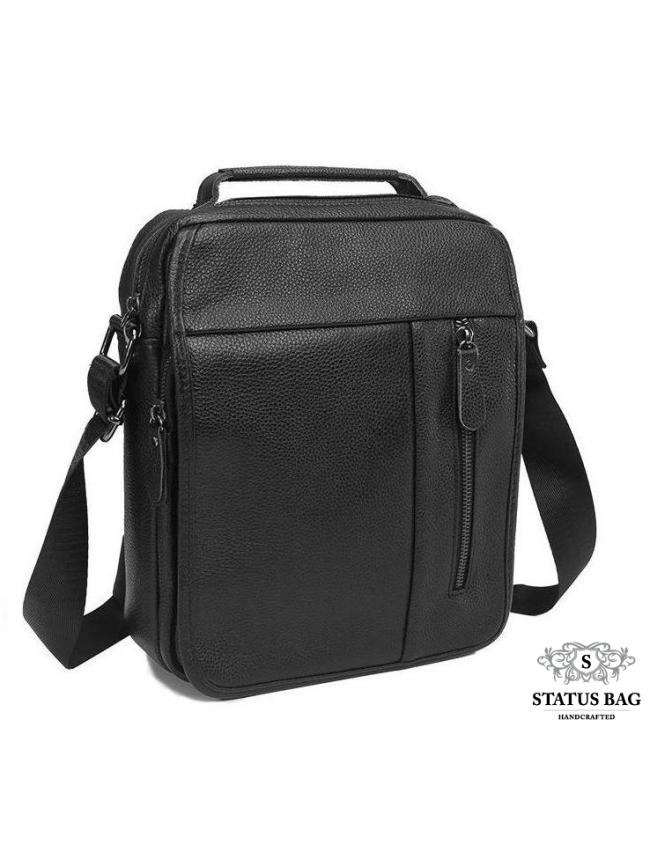 Сумка-барсетка мужская кожаная через плечо Tiding Bag A25-2158A