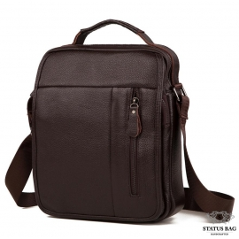 Вместительная барсетка через плечо из натуральной кожи Tiding Bag A25-2158C