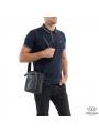 Мужская кожаная сумка через плечо маленькая Tiding Bag A25-223A фото №2