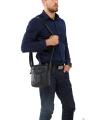 Мужская кожаная сумка через плечо маленькая Tiding Bag A25-223A фото №7