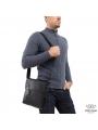Мужской кожаный мессенджер с клапаном Tiding Bag A25-238-1A фото №6