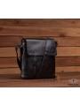 Мужской кожаный мессенджер с клапаном Tiding Bag A25-238-1A фото №2
