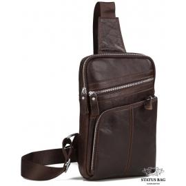 Мужской кожаный слинг, сумка на одно плечо Tiding Bag A25-6896C