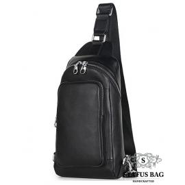 Кожаный городской рюкзак на одну шлейку слинг Tiding Bag B3-2015-10A