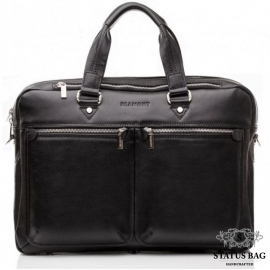 Сумка-портфель мужская кожаная для документов элитная Blamont Bn001A