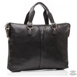 Офисная мужская кожаная сумка для ноутбука и документов А4 Blamont Bn004A