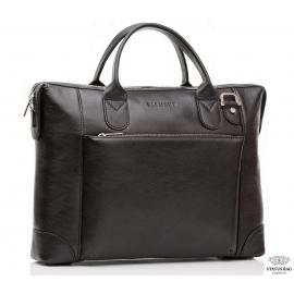 Классическая сумка-портфель черная кожаная Blamont Bn006A