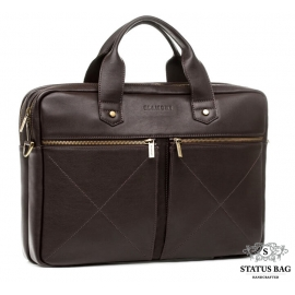 Мужская кожаная сумка для документов премиального качества Blamont Bn012C
