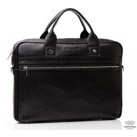 Деловая мужская кожаная сумка под ноутбук и документы Blamont Bn013A