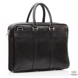 Классическая кожаная мужская сумка для ноутбука с наплечным ремнем Blamont Bn023A