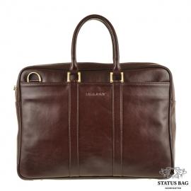 Фирменная деловая мужская кожаная сумка под ноутбук и документы Blamont Bn023C