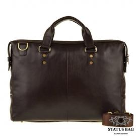 Мужская офисная сумка формата А4 из натуральной кожи Blamont Bn025C