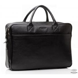 Элитная кожаная деловая сумка по ноутбук 15 с плечевым ремнем Blamont Bn026A