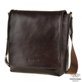 Мужская сумка через плечо из натуральной кожи Blamont Bn027C