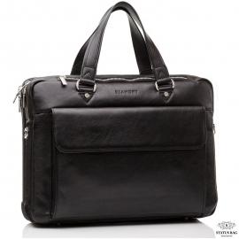 Сумка-портфель деловая мужская кожаная через плечо Blamont Bn029A