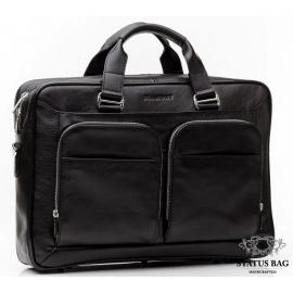 Функциональная деловая мужская кожаная сумка Blamont Bn035A