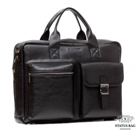 Сумка-портфель мужская кожаная с отсеком для ноутбука Blamont Bn058A