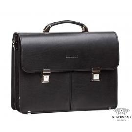 Деловой мужской кожаный портфель два отдела Blamont Bn063A