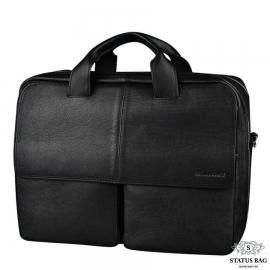Вместительная мужская кожаная сумка для деловых поездок Blamont Bn065A-1