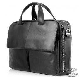 Деловая сумка мужская кожаная для командировок Blamont Bn065A