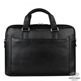 Классическая кожаная мужская сумка-портфель для документов Blamont Bn066A
