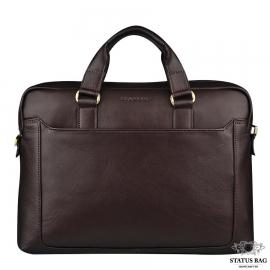 Классическая кожаная мужская сумка для макбука Blamont Bn066C