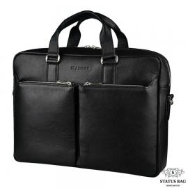 Престижная деловая мужская сумка для документов из натуральной кожи Blamont Bn067A
