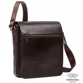 Мужская кожаная сумка через плечо шоколадный цвет Blamont Bn091C