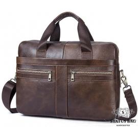 Мужская кожаная сумка для ноутбука и документов Bexhill Bx1120C