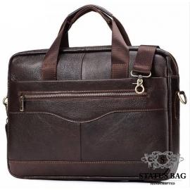 Мужская кожаная сумка для документов и ноутбука шоколад Bexhill Bx1128C