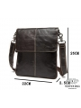 Мужская кожаная сумка чреез плечо мессенджер Bexhill BX8005C фото №4