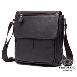 Мужская наплечна сумка из натуральной кожи Bexhill BX819C