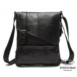 Мужская сумка из натуральной фактурной кожи черного цвета BEXHILL BX8239A