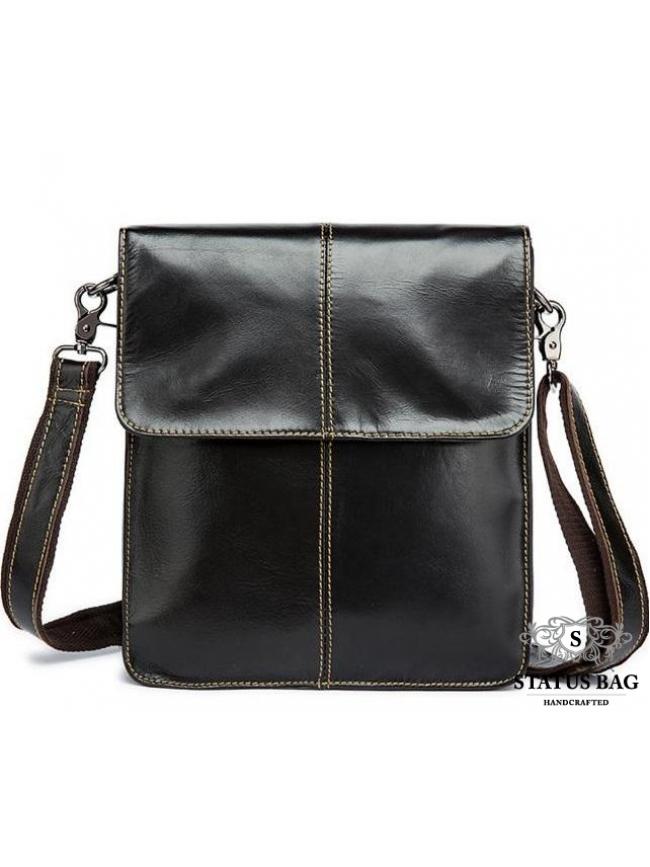 Мужская сумка через плечо из натуральной кожи гладкая Bexhill Bx8821C