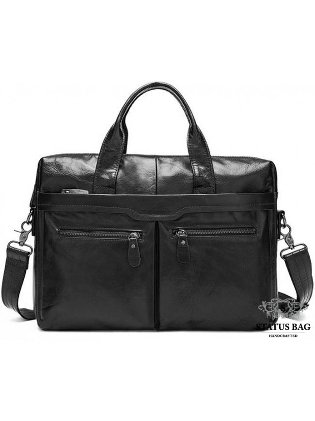 Функциональна мужская сумка из натуральной кожи Bexhill Bx9005A