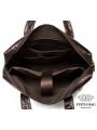 Сумка мужская кожаная шоколад с кожаным ремнем Bexhill Bx9005C фото №11