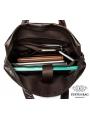 Сумка мужская кожаная шоколад с кожаным ремнем Bexhill Bx9005C фото №12
