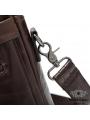 Сумка мужская кожаная шоколад с кожаным ремнем Bexhill Bx9005C фото №8