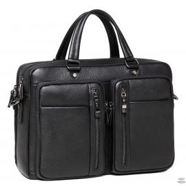 Вместительная мужская кожаная сумка для ноутбука с карманами Royal Bag DF01-0147A