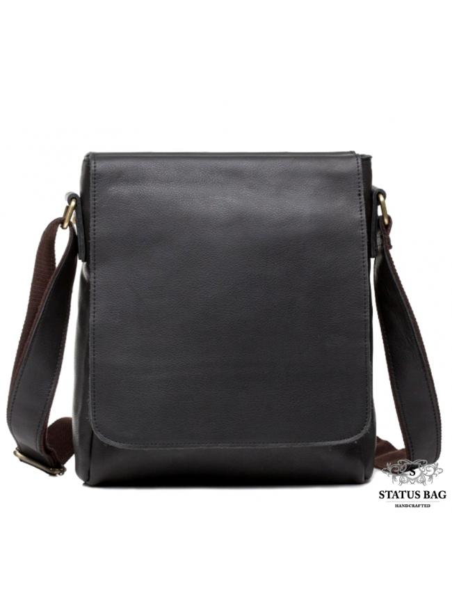 Сумка-мессенджер мужская через плечо кожанаяTiding Bag G1157A