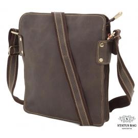 Повседневная мужская наплечная кожаная сумка на молнии Tiding Bag G8856C