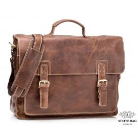 Мужской кожаный портфель TIDING BAG G8870B
