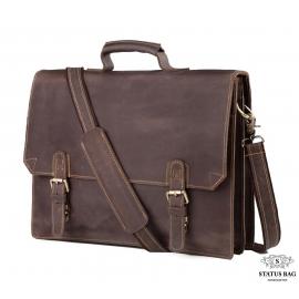 Коричневый мужской портфель из натурально кожи Tiding Bag GA2095R