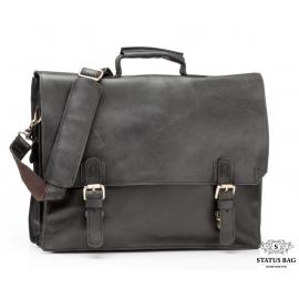 Деловая кожаная сумка-портфель с ремнем на плечо TIDING BAG GA2095