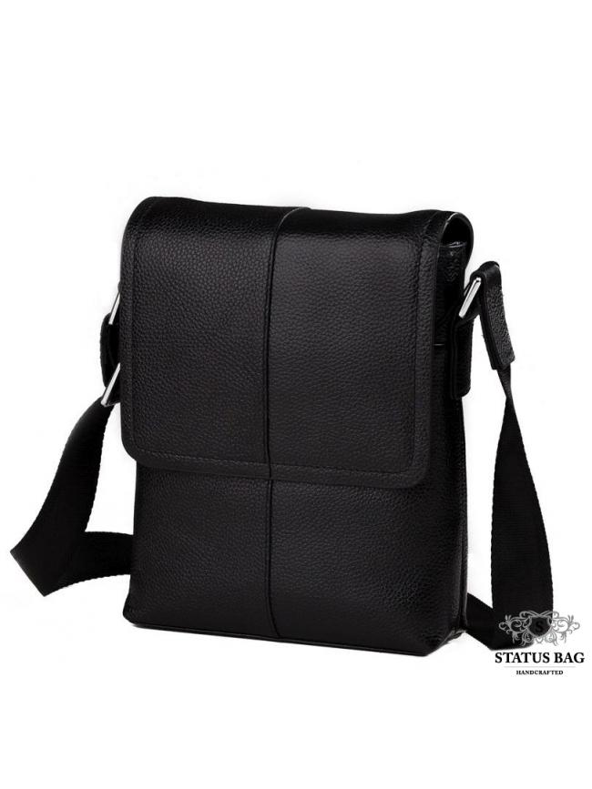 Мужская сумка через плечо кожаная маленькая Tiding Bag M1506A