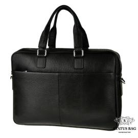 Деловая сумка-портфель мужская кожаная для ноутбука и документов Tiding Bag M2164A