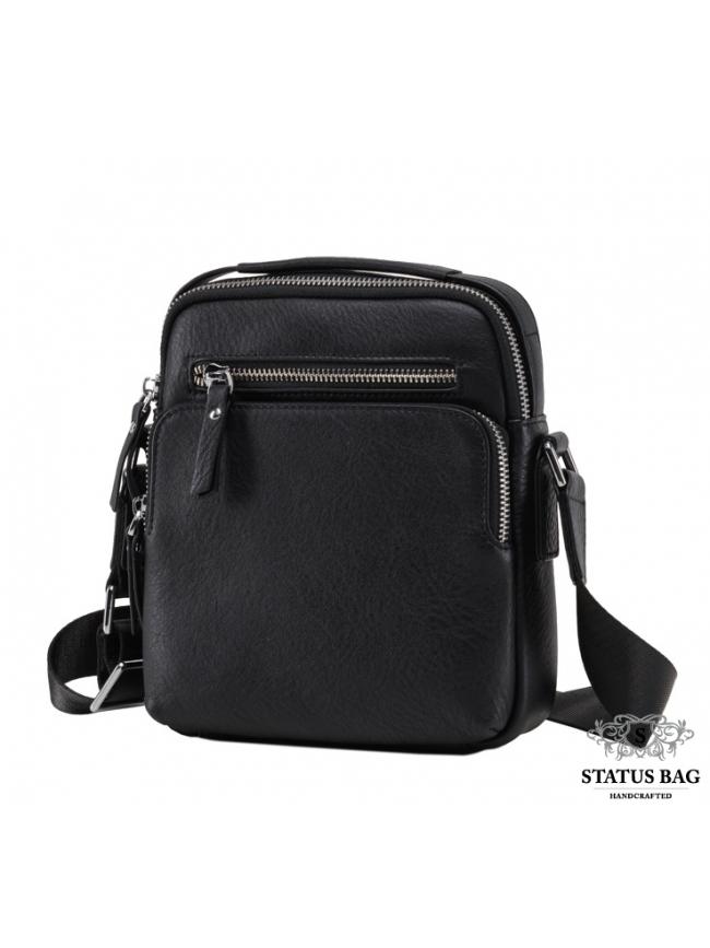 Мужская кожаная сумка-барсетка через плечо с ручкой TIDING BAG M2605-2A